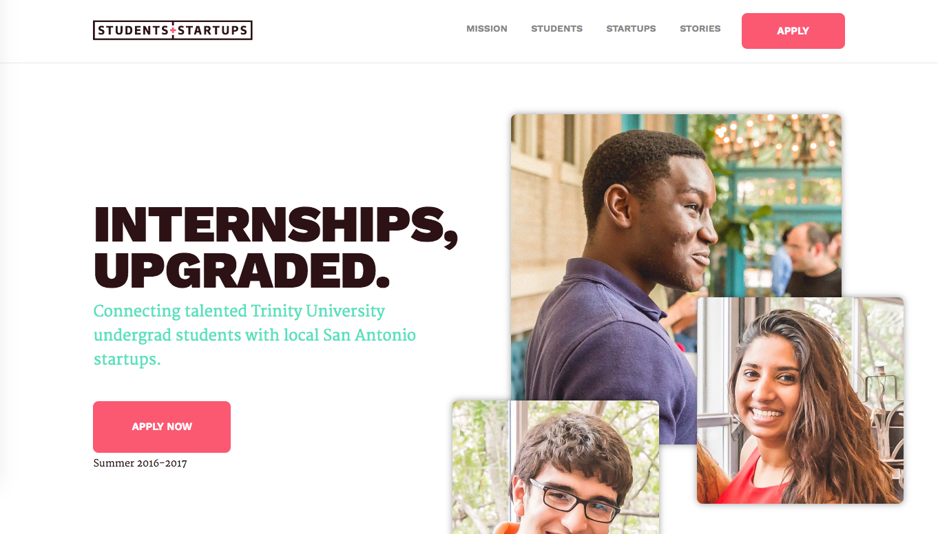Students + Startups Website